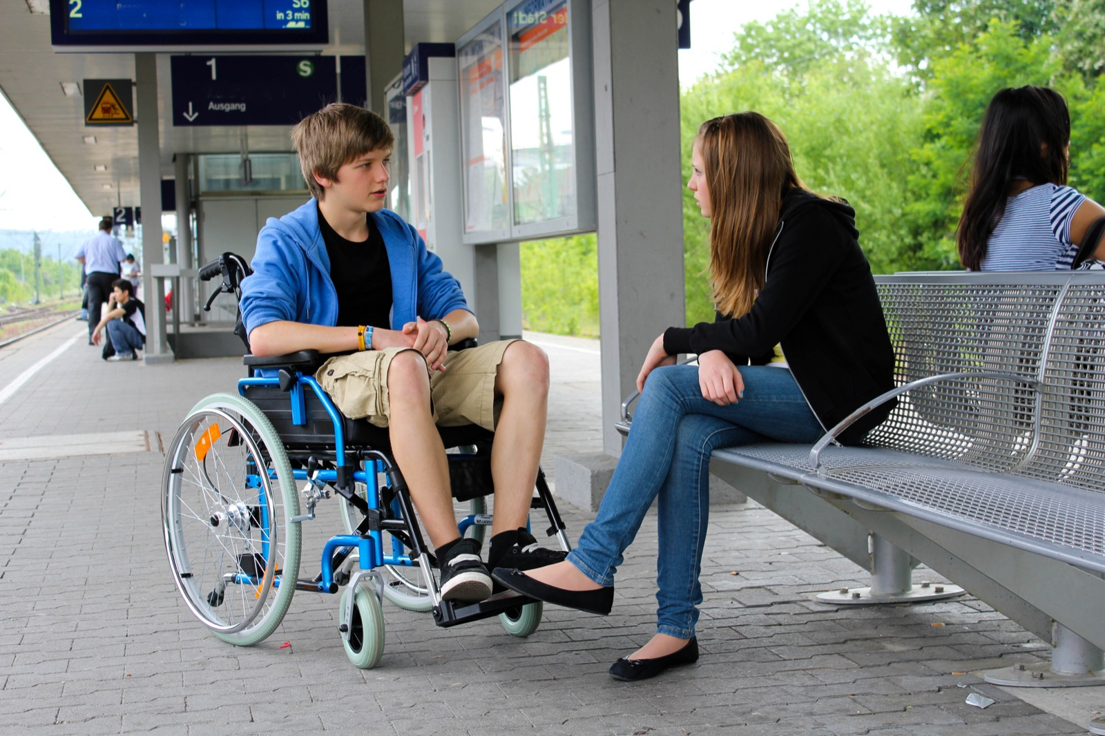 Young people with spinal cord injuries