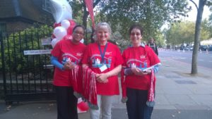 SIA volunteers helping at our Going the distance event.