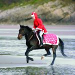 Father Christmas on horseback
