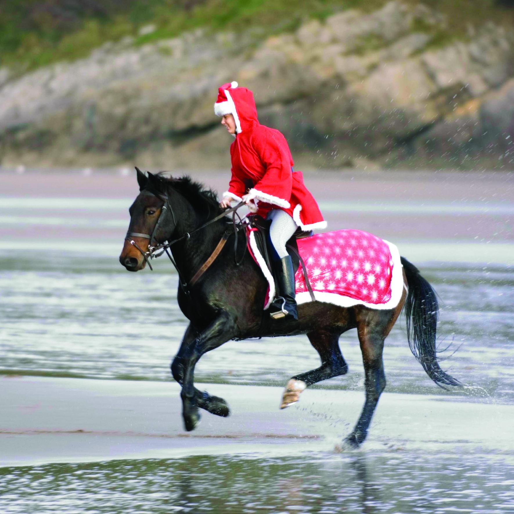 Father Christmas on horseback