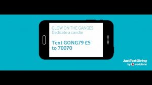 Glow on the Ganges text a donation