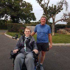 Rob Cam with dad, training for half marathon