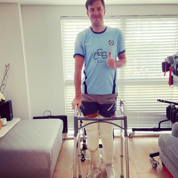 Injured footballer who broke his neck smashes 2.6 challenge