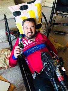 Martin trains in his Bowhead handbike
