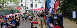 SIA runner at the London marathon