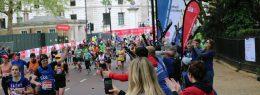 SIA runner at the London marathon